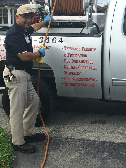 All County Environmental Services Exterminator Outside Truck